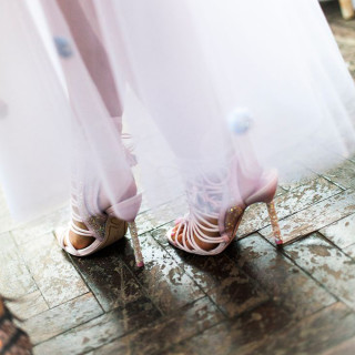 Sophia's Wedding Lacey Sandals